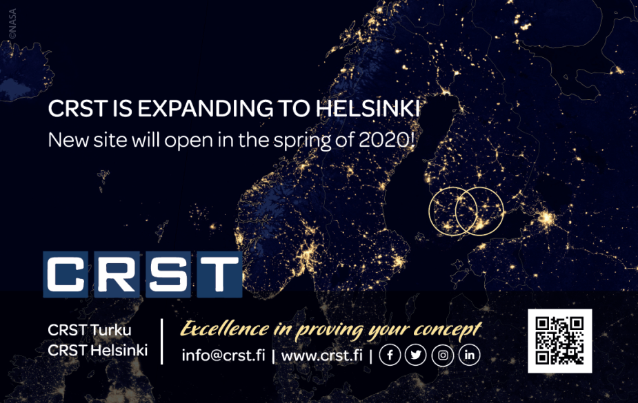 CRST expands its clinical trials capacity – opens new clinical research unit in Helsinki