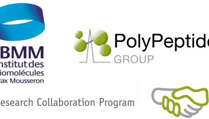 PolyPeptide Group announces a research collaboration program with the Green Chemistry and Enabling Technologies Team of IBMM in Montpellier
