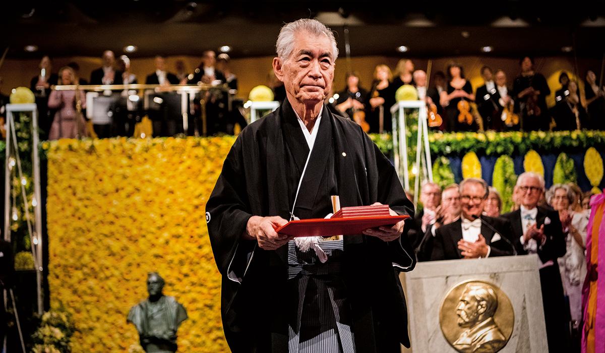 Physiology or Medicine Laureate Tasuku Honjo at the 2018 Nobel Prize Award Ceremony in Stockholm