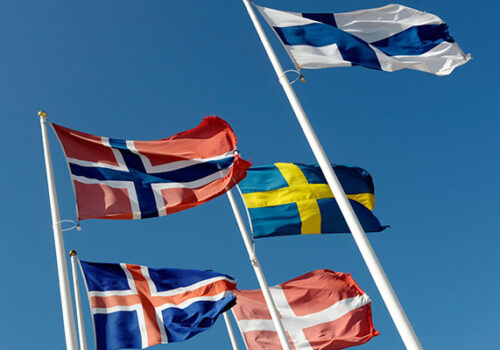 The Nordic flags