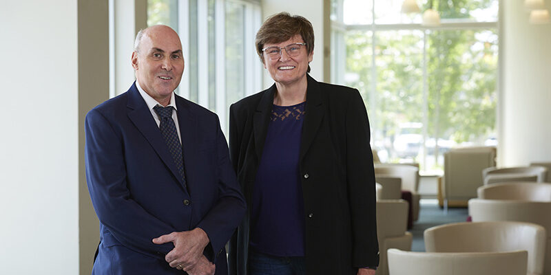 Weissman and Kariko Photo Peggy Peterson Courtesy of Penn Medicine